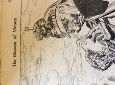 m5-1a ephemera ww1 1916 cartoon the kaiser sydney bulletin the blossom of victor