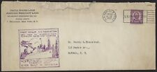 US GERMAN SEA POST CANCEL 1932 FIRST VOYAGE SS MANHATTAN LARGE SHIP EVER BUILT