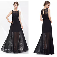 UK Long Formal Evening Prom Party Dress Bridesmaid Dresses Ball Gown Cocktail 06