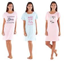 Ladies 100% Cotton Jersey Sleepy Tee Nightshirt / Nightdress / Nightie
