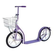 "16"" AMISH KICK SCOOTER ~ PURPLE LAVENDER Foot Bike w/ Basket & Brakes USA MADE"