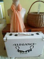 1 NEW Colourful Mixed Fibre Ladies Scarf PEACH+SEQUIN DETAIL ~ Gift Idea #39
