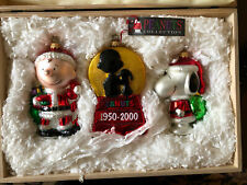 Peanuts 2000 Adler Polonaise Limited Ed Christmas Ornament Set Poland Nib