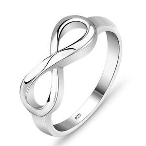 Infinity Ring Silber Unendlichkeit Echt Sterlingsilber 925 massiv ewige Liebe