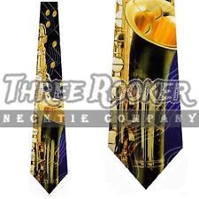Music Instrument Tie Saxophone Neckties Jazz Blues Mens Neck Ties Brand New