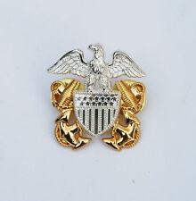 WWII US Navy Officers Hat Metal Pin Military Collectible Badge - US017