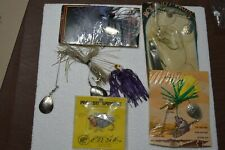 6 SPINNERBAIT TACKLE- DIFF BRANDS SIZES COLORS   TACKLE BOX FINDS