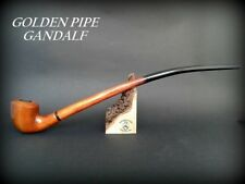 WOODEN TOBACCO SMOKING PIPE Lotr Gandalf Hobbit 82  CHURCHWARDEN LONG   Orange