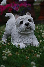 CHIEN WEST HIGHLAND TERRIER DE COLLECTION EN POLYRESINE GRANDE QUALITE