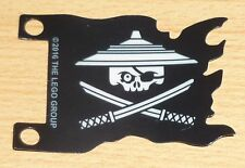 Lego 1 Fahne / Flagge der Ninjago Piraten in schwarz aus Plastik