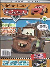 Disney Pixar Cars magazine Puzzles Quizzes Comics Games Maze Poster NASCAR facts