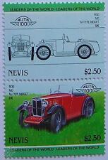 1930 MG M-TYPE MIDGET Car Stamps (Leaders of the World / Auto 100)