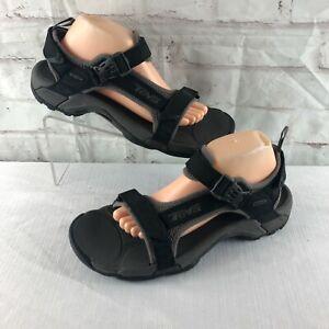 Teva Mens 11 Black Strappy Waterproof Sports Sandals