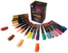 Chalk Markers, Liquid, Neon Color, 20, Reversible, Black & White Boards, Glass