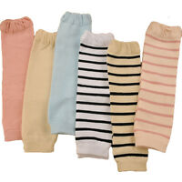 Baby Toddler Kid Child Solid Plain Stripe Wrinkles Socks Tights Arm Leg Warmers