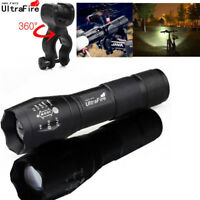 Ultrafire 60000Lumens LED Zoomable Tactical LED 18650 Flashlight Torch Light