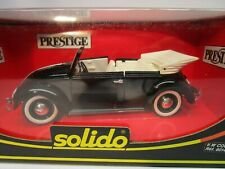 Solido Prestige VW Volkswagen Beetle Bug Coccinelle Black Diecast NIB 1/18 8014