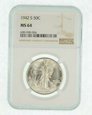 1942-S MS64 - Walking Liberty Half Dollar - Graded By NGC - Choice Unc *305