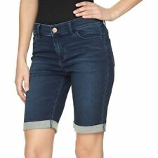 NWT - JUICY COUTURE Women's 'FLAUNT IT' MID RISE BERMUDA JEAN Blue SHORTS - 2