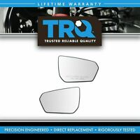 Chevrolet Equinox 4 5//8 x 7 1//2 x 8 GMC Terrain Fit System Passenger Side Non-Heated Mirror Glass w//Backing Plate w//o Blind Spot