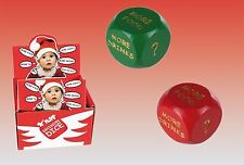 Red Green Christmas Party Fun Decision Dare Dice Family Game Gift Novelty Home