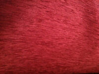 REMNANT FABRIC - DEEP RED CHENILLE  UPHOLSTERY  FABRIC (H12)