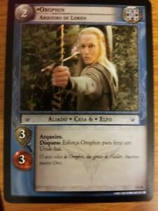 Lord of the Rings CCG Fellowship 1U56 Orophin Lorien Bowman PORTUGUESE LOTR TCG