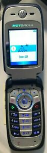 NEW Motorola V360 Blue Silver flip (Consumer Cellular) Cell Phone TEST ITEM