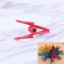10Pcs Multicolor Metal Binder Clips Paper Clip Office Photo Practical Supplies Z