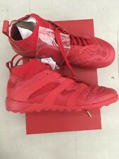 ADIDAS David Beckham Accelerator TF Red Predator us10.5/uk10/eu44 2/3 AG ROSSO NEW