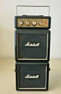 Marshall MS-4 Micro Stack Black 1-Watt - Battery-Powered No AC Adapter