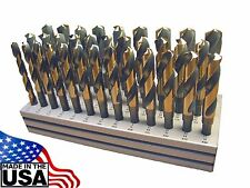 "Norseman 33pc Silver & Deming Drill Bit Set HI-Moly M7 1/2-1"" By 64th S&D USA"