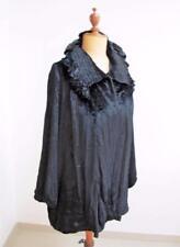 Vintage 1920's Opera Jacket Coat - Ladies Evening Wear Black Velvet Drop Waist