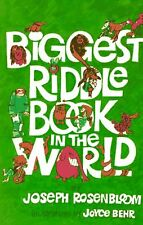 Biggest Riddle Book in the World by Joseph Rosenbloom