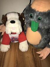 RARE Vtg 1988 WWF George The Animal Steele MINE Plush British Bulldog Matilda