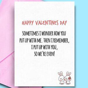 Happy Valentines Day Card Husband Wife Boyfriend Girlfriend Funny Cheeky