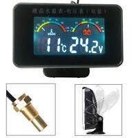 Digital Kfz Spannungsmesser Wasser-Temperaturanzeige Thermometer Alarm 12/24V