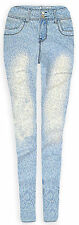Ladies Ice Blue Straight Leg Jeans New Womens Light Denim Jeans UK Sizes 6-14