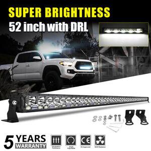 "52"" LED LIGHT BAR 10180W For Jeep Wrangler JK 2007-2018 Hummer H3 H3T 2006-2010"