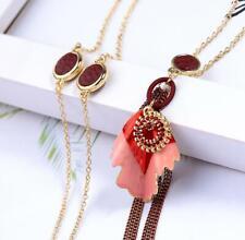 New Betsey Johnson Fashion Rare Alloy Rhinestone crystal Enamel tassel Necklace
