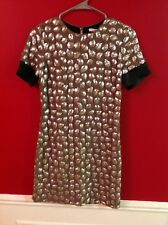 DVF Grey, Silver, and Black Dress, Size 0