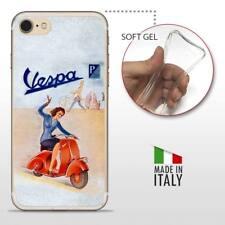 iPhone 7 TPU CASE COVER PROTETTIVA GEL TRASPARENTE VINTAGE Old Vespa Retro
