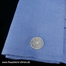 Boutons de Manchette Argent 925 Mexico Maya calendrier 1960er 16 mm