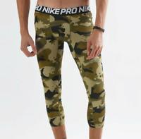 S//M//L//XL AQ1197-268 Nike Pro Men/'s Brown//Black//Camo Print 3//4 Training Tights