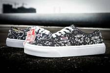 Vans Authentic Indigo Black Denim/True White Men's Classic Shoes Size 10.5