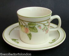 TWO Wedgwood Wild Apple N1042N Pattern Tea Cups & Saucers Oven to Table in VGC