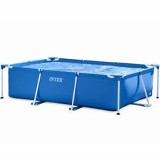 INTEX Metal Frame Steel Tube Rectangular Ground Swimming Pool Filter Set Summer
