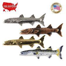 SALTWATER FISH, BARRACUDA, WAHOO Lapel Pin or Magnet