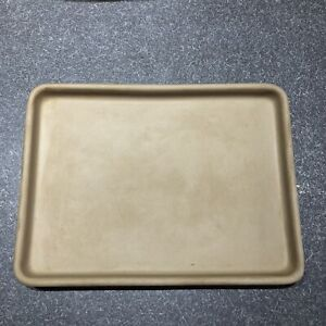"""PAMPERED CHEF Small Bar Pan Stoneware TOASTER OVEN Stone 9x7"""" #1448"""