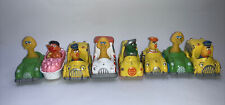 Sesame Street Hasbro Preschool Die Cast Cars Lot Of 8 1983